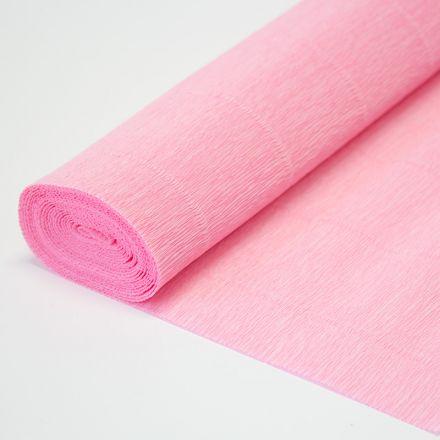 Бумага гофрированная простая 949 светло-розовая, 140гр, 50х250 см, Cartotecnica Rossi (Италия)
