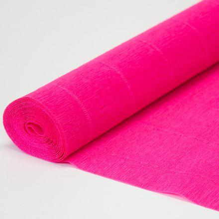 Бумага гофрированная простая 951 ярко-розовая, 140гр, 50х250 см, Cartotecnica Rossi (Италия)