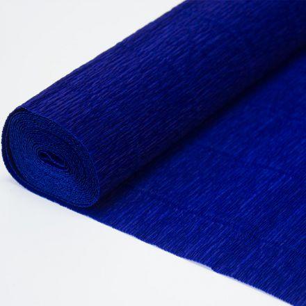Бумага гофрированная простая 955 темно-синяя, 140гр, 50х250 см, Cartotecnica Rossi (Италия)