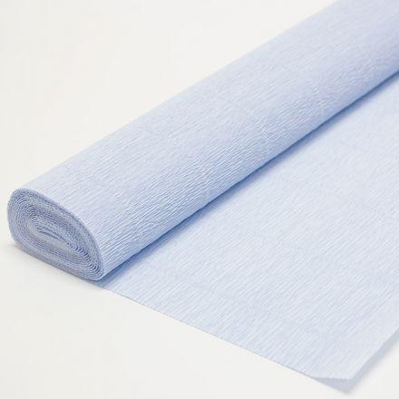 Бумага гофрированная простая 959 нежно-голубая, 140гр, 50х250 см, Cartotecnica Rossi (Италия)