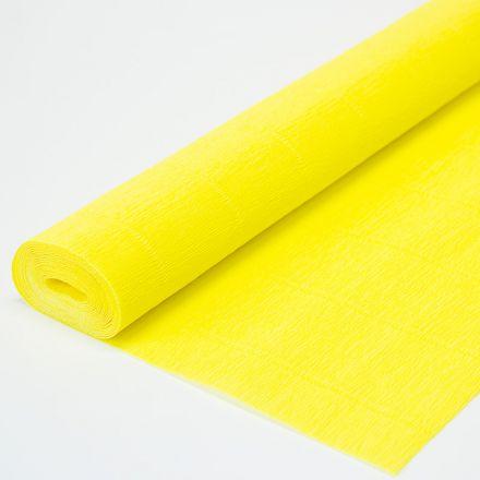 Бумага гофрированная простая 975 лимонная, 140гр, 50х250 см, Cartotecnica Rossi (Италия)