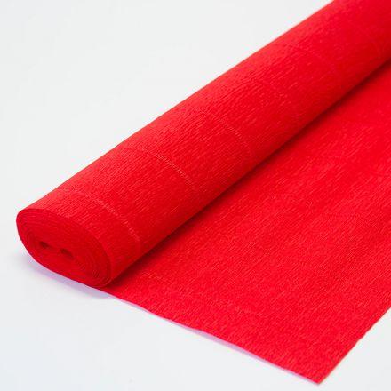 Бумага гофрированная простая 980 красная, 140гр, 50х250 см, Cartotecnica Rossi (Италия)