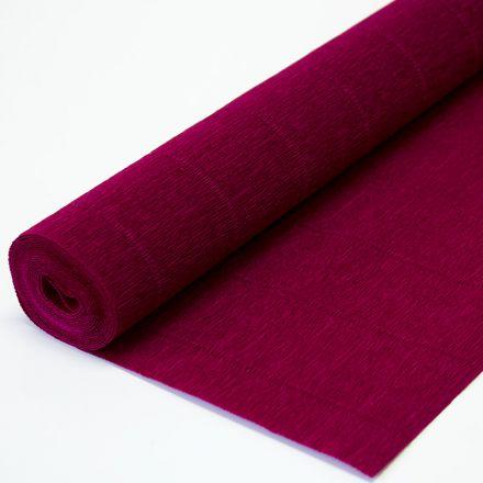 Бумага гофрированная простая 984 темно-малиновая, 140гр, 50х250 см, Cartotecnica Rossi (Италия)