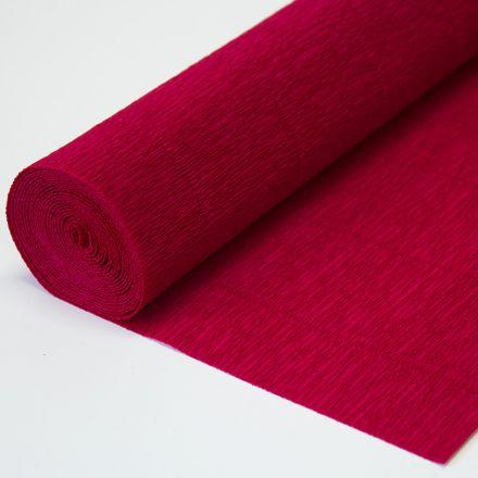Бумага гофрированная простая 986 вишневая, 140гр, 50х250 см, Cartotecnica Rossi (Италия)