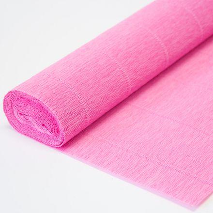 Бумага гофрированная простая 554 розовая, 180гр, 50х250 см, Cartotecnica Rossi (Италия)