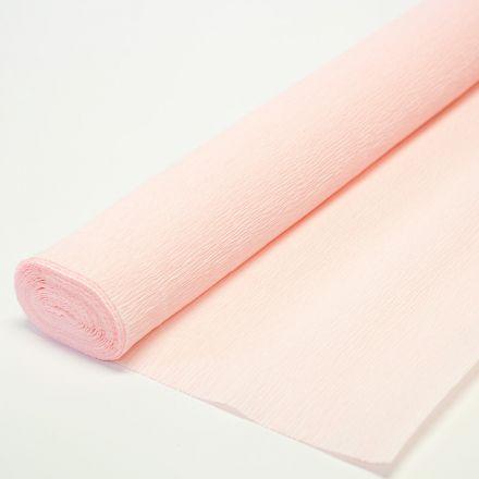 Бумага гофрированная простая 569 бело-розовая, 180гр, 50х250 см, Cartotecnica Rossi (Италия)