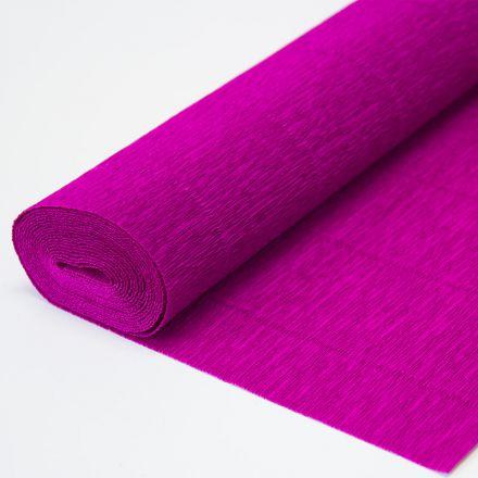 Бумага гофрированная простая 572 темно-малиновая, 180гр, 50х250 см, Cartotecnica Rossi