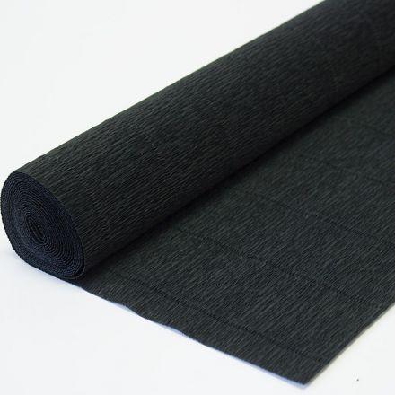Бумага гофрированная простая 602 черная, 180гр, 50х250 см, Cartotecnica Rossi