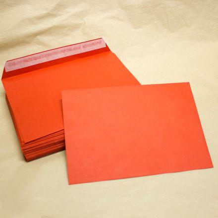 Конверт C5 (162x229), Красный 120г., упаковка 10 шт.