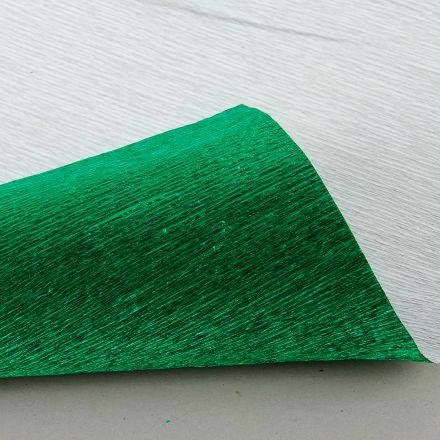 Бумага гофрированная металл, 140гр, 914 зеленая, 50х250 см, Cartotecnica Rossi