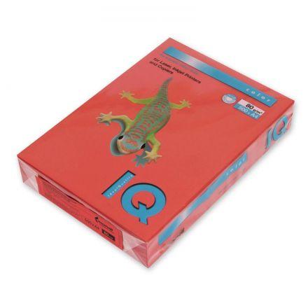 Бумага цветная IQ Color (А4, 80 г/кв.м, ZR09-кирпично-красный, 500 листов)