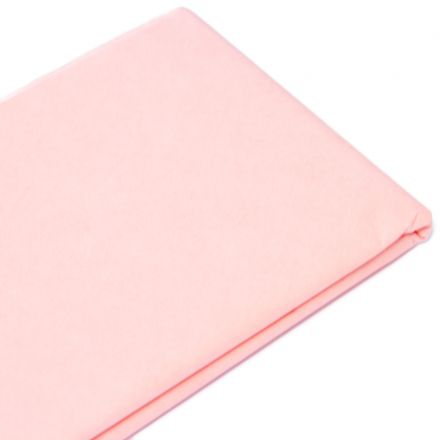 Бумага тишью  76х50см,10 лист., светло-розовая
