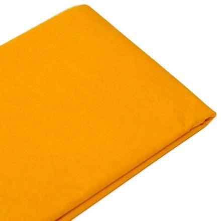 Бумага тишью 76х50см,10 листов, светло-оранжевая