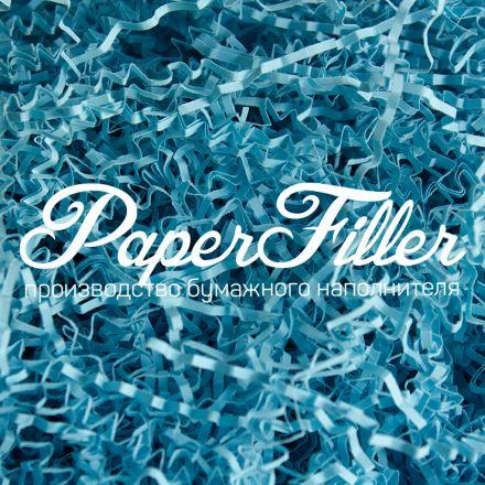 Бумажный наполнитель. Голубой лед, 2 мм, 1 кг