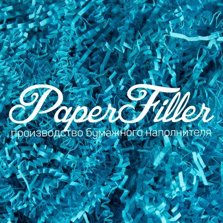 Бумажный наполнитель. Светло-синий, 2 мм, 1 кг