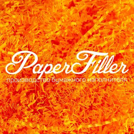 Бумажный наполнитель. Оранжевый неон, 2 мм, 50 гр