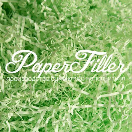Бумажный наполнитель. Светло-зеленый, 2 мм, 100 гр