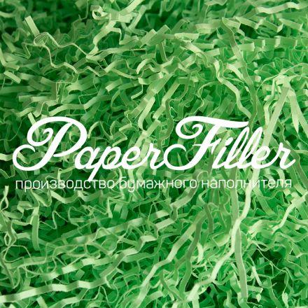 Бумажный наполнитель. Зеленый, 2 мм, 100 гр