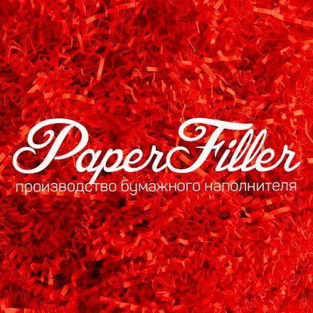 Бумажный наполнитель. Кораллово-красный, 2 мм, 100 гр