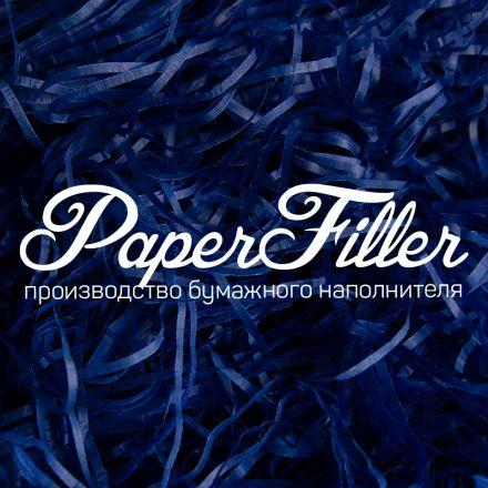 Бумажный наполнитель. Темно-синий, 2 мм, 1 кг