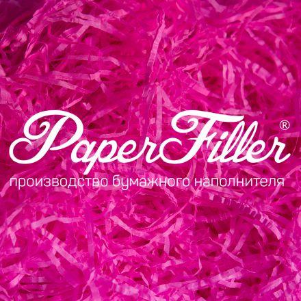 Бумажный наполнитель. Ярко-розовый, 2 мм, 100 гр