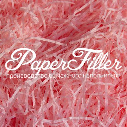 Бумажный наполнитель. Светло-розовый, 2 мм, 100 гр