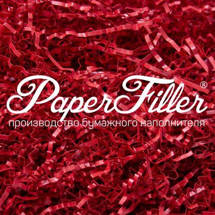 Бумажный наполнитель. Majestic Красный, 2 мм, 1 кг