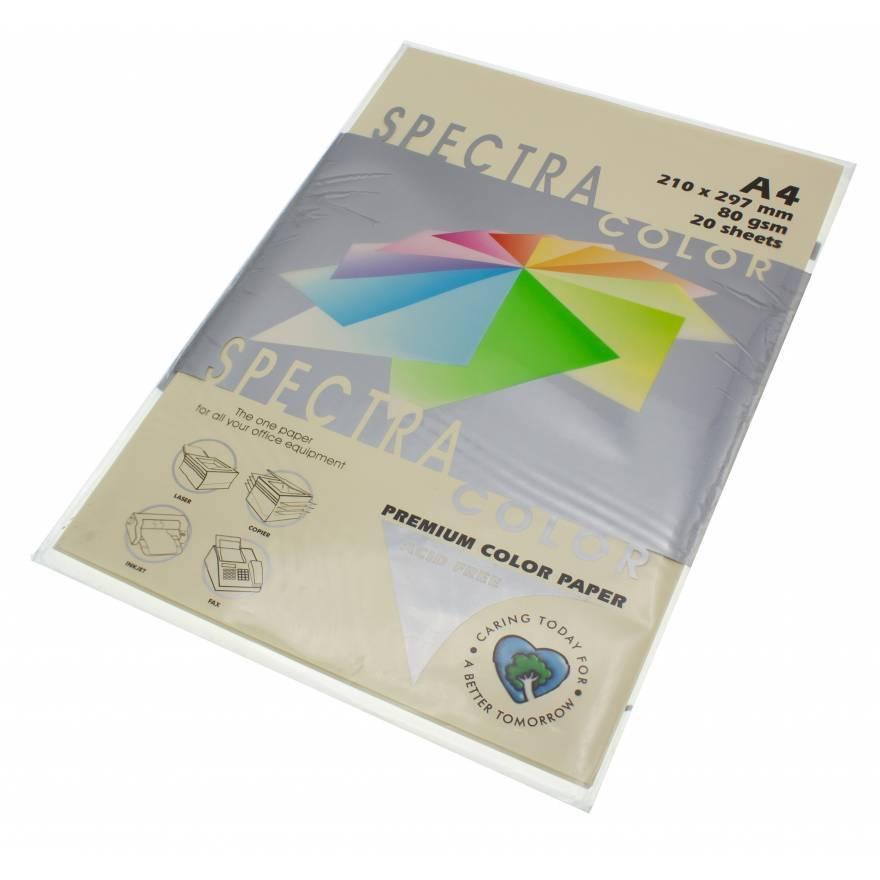 Бумага цветная Spectra Color IT100, Цвет: Ivory Слоновая кость, 20 листов