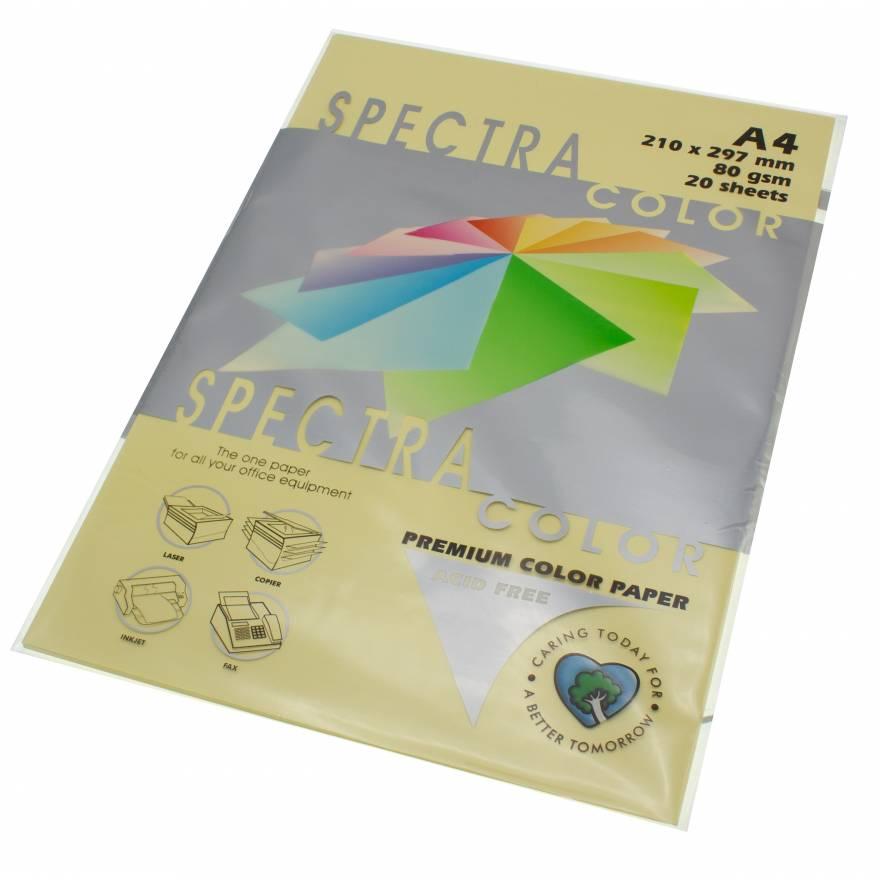 Бумага цветная Spectra Color IT110, Цвет: Creme Кремовый, 20 листов
