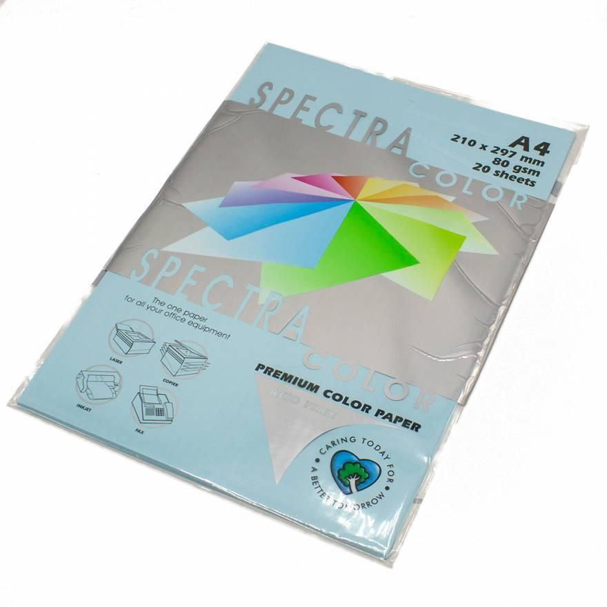 Бумага цветная Spectra Color IT120, Цвет: Ocean Голубой, 20 листов