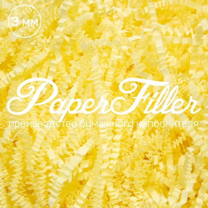 Бумажный наполнитель. Желтый, 3 мм, 1 кг