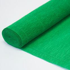 Бумага гофрированная простая 963 зеленая, 140гр, 50х250 см, Cartotecnica Rossi (Италия)