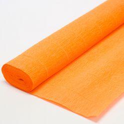 Бумага гофрированная простая 981 оранжевая, 140гр, 50х250 см, Cartotecnica Rossi (Италия)