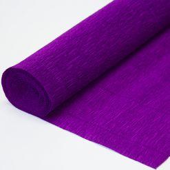 Бумага гофрированная простая 993 фиолетовая, 140гр, 50х250 см, Cartotecnica Rossi (Италия)