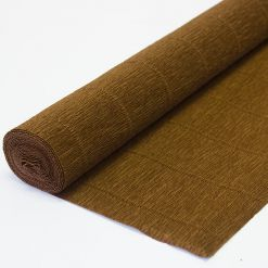 Бумага гофрированная простая 568 коричневая, 180гр, 50х250 см, Cartotecnica Rossi (Италия)