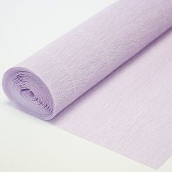 Бумага гофрированная простая 592 светло-сиреневая, 180гр, 50х250 см, Cartotecnica Rossi