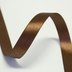 Лента атласная 15мм х 30м К коричневая