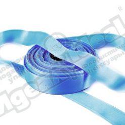 Лента атласная 25мм х 25м, 2-х сторонняя голубая