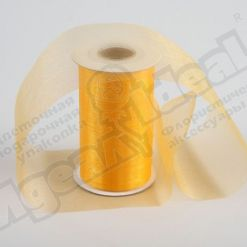 Лента органза 90мм х 20м желтая