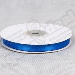 Лента атласная 10мм х 30м К, синяя