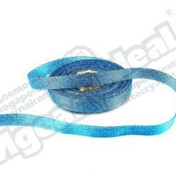 Лента парча 10мм х 25м, голубая