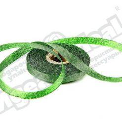 Лента парча 10мм х 25м, зеленая