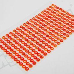 Наклейки на листе жемчуг 6мм, 247шт., оранжевый