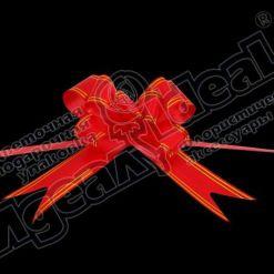 Бант-бабочка зол. полоса 32, 10 шт., красный