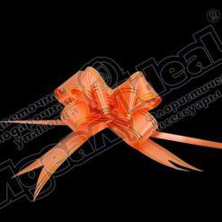 Бант-бабочка зол. полоса 32, 10 шт., оранжевый