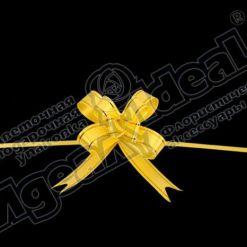Бант-бабочка зол. полоса 18, 10 шт., желтый