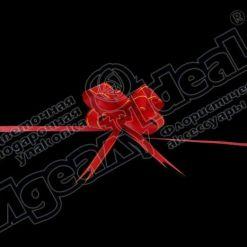 Бант-бабочка зол. полоса 18, 10 шт., красный