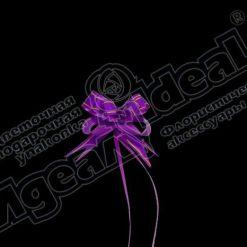 Бант-бабочка зол. полоса 18, 10 шт., фиолетовый