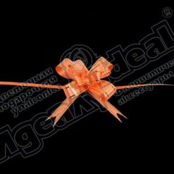 Бант-бабочка зол. полоса 18, 10 шт., оранжевый