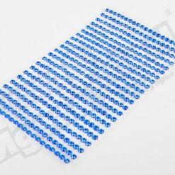 Наклейки на листе стразы 4мм, 440шт., синие